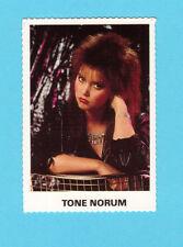 Tone Norum Vintage 1980s Pop Music Swedish Collector Card