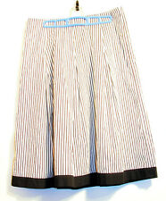 Talbots Promenade Skirt Size 6 Black and White striped Victorian Gothic Pleated