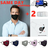 Air Purifying Face Mask Mouth Washable Windproof Mask with 2 Free Filters