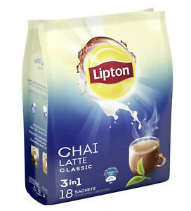 Lipton Chai Latte Classic 3-in-1 Instant Tea Mix 18 Sachets (Limited Stock)