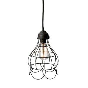 Elk Lighting Wire Rose 1-Light Mini Pendant Light, Rustic Carob - 225033
