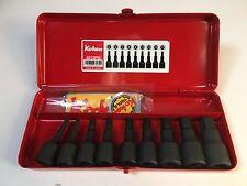 "Koken 1/2"" drive inhex Socket Set (9 piece), Metric x 60 mm long - Japan"