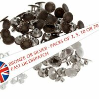 EASY FIT JEANS BUTTON REPAIR-REPLACEMENT MULTI PACKS 17mm BUTTONS BRONZE/SILVER