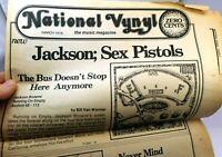 National Vynyl Music Magazine SAN Francisco SEX PISTOLS March 1978 Never Mind Bo