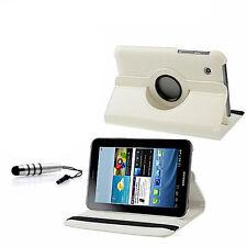 360° Samsung Galaxy Tab 2 7.0 Luxus Tasche Hülle Case weiß P3100 P31