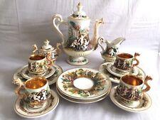 Fabulous Vintage 15-Piece Italy Capodimonte Tea Set