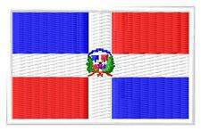 Flag Dominican Republic Bandera de República Dominicana Parche bordado Thermo-Ad