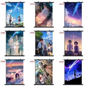 """Anime kimi no na wa Your Name manga Wall Scroll Poster cosplay8""""x11"""" A"""