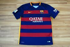 BARCELONA 2015-2016 FOOTBALL SOCCER HOME SHIRT JERSEY MAGLIA CAMISETA LARGE MENS