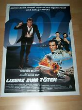 LIZENZ ZUM TÖTEN - original Kinoplakat A1 ´89 - JAMES BOND 007 Timothy Dalton