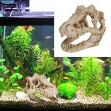 1Pc Aquarium Fish Tank Resin Dinosaur Skull Ornament Decoration Landscape Decor