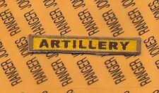 "US Army ""ARTILLERY"" Armor Tank AIB AFA Cav tab patch"