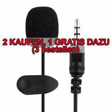 Ansteckmikrofon Lavalier Mikrofon Clip-On Microphone für Handy Laptop Verdrahtet