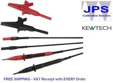 Kewtech 2 Wire Fused Multimeter Clampmeter Test Lead Set Leads Probes  JPSS173