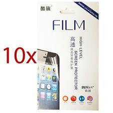 """10x für iPhone 6 Display Schutzfolie 4,7"""" Screen Protector mit Reinigungstuch"""