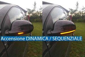 FRECCE SPECCHIETTI LED DINAMICHE SEQUENZIALI VOLKSWAGEN VW GOLF 5 MK5 V