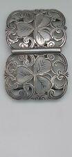 More details for antique solid silver nurses belt buckle-fully hallmarked 1902