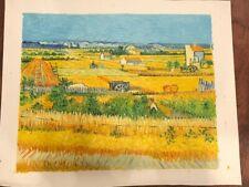 Harvest 1888- Van Gogh Oil Painting reproduction (unframed)