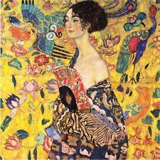 'Dama con ventaglio quadro - Stampa d''arte su tela telaio in legno'