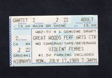 1989 Violent Femmes Concert Ticket Stub Mansfield Ma Great Woods Performing Arts