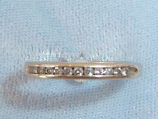 14K Yellow Gold Band, 11, 1.5mm Diamonds, TCW .16 carat, Size 5,