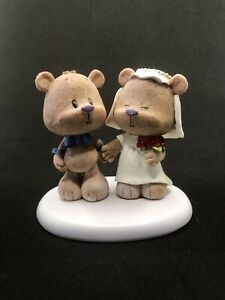 Teddy Bear Just Married Figurine, could be used as Cake Topper