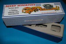 BOITE   DINKY SUPERTOYS TRACTEUR BERLIET SEMI  REMORQUE PORTE TRANSFORMATEUR:898