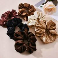 Women Girl Hair Scrunchies Bow Satin Silk Hair Ring Rope Tie Ponytail Holders