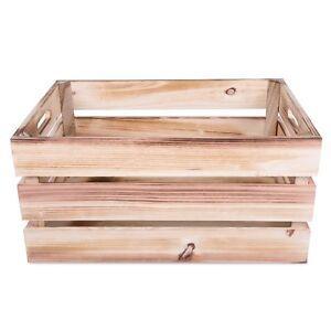 Wickerfield Large Vintage Wooden Apple Crates Display Storage Box Xmas Hampers