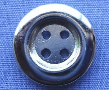 15mm Silver 4 Hole Buttons #13 (x 2 buttons)
