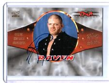 TNA Raven 2004 Pacific Legends and Stars Authentic Autograph Card WWE