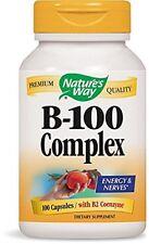 Nature's Way Vitamin B-100 Complex 100 Capsules