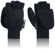 F Handschuhe 'Klapp-Fäustling' - schwarz