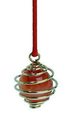 Pendule Spirale d'or boule cornaline - Un redoutable pendule pour les jeux