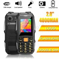 2.0'' Dual Sim 4800mah GSM 900/1800 Carriers Cell Phone Long Standby for Elderly