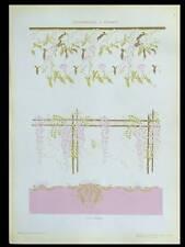 DECOR VEGETAL ART NOUVEAU -1910- LITHOGRAPHIE DOREE, GRANDI
