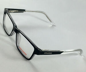 New CONVERSE K017 Black/Crystal Boys Kids Eyeglasses Frames 48-15-130