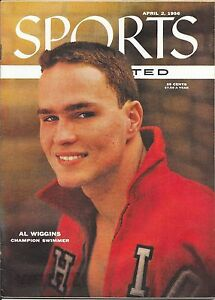 Sports Illustrated April 2 1956 AL WIGGINS Ohio State OLYMPIC Swimming NO LABEL