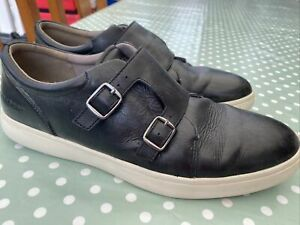 ROCKPORT MENS BLACK LEATHER TRAINERS SIZE 10.5