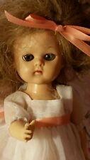 Vtg Virga Doll Ginny Friend Walker Hard Plastic Blonde Hair Blue Sleepy Eyes