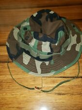Army Military jungle Camo Boonie Hat Sun Bucket brigade Quartermaster 7 1/2