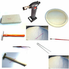 Solder Kit Starter Kit soldering jewellery torch, borax dish silver solder, flux