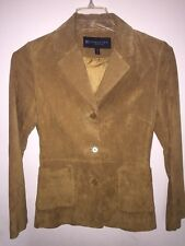 Reaction By Kenneth Cole Woman's 100% Leather Suede Blazer Size 8