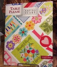 Art To Heart Table Please Part One Runners Cakes  Quilt Book Nancy Halvorsen