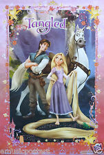 """DISNEY """"TANGLED"""" MOVIE POSTER - Rapunzel, Flynn Rider, Maximus Standing Together"""