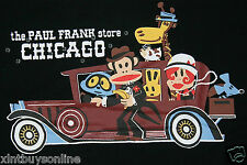 Paul Frank T-Shirt The Paul Frank Store Chicago Black  100% Cotton