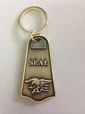 NAVY SEAL TEAM  (The Only Easy Day Was Yesterday) Brass Plated Key Chain Ring