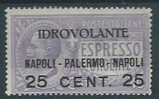 1917 REGNO POSTA AEREA NAPOLI PALERMO MH * - RR12890