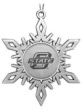 NEW Oklahoma State University Cowboys OSU ENGRAVED PEWTER CHRISTMAS ORNAMENT