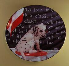 I Will Not Bark In Class Comical Dalmatians Plate Dog Puppy School Hamilton